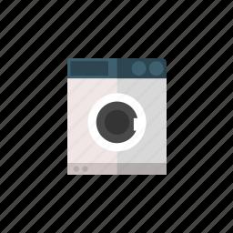 clothes, household, household equipment, maschine, wash, washing, washing machine icon