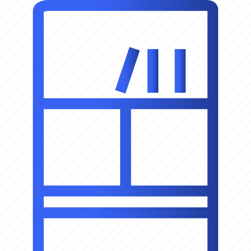 appliances, bookshelf, furniture, home, household, interior, property icon