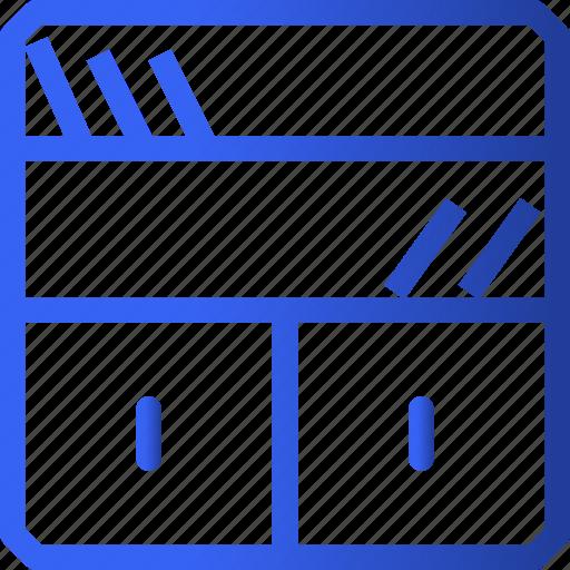 appliances, bookshelf, furniture, home, household, property, shelf icon