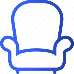 appliances, furniture, home, household, master, single, sofa icon