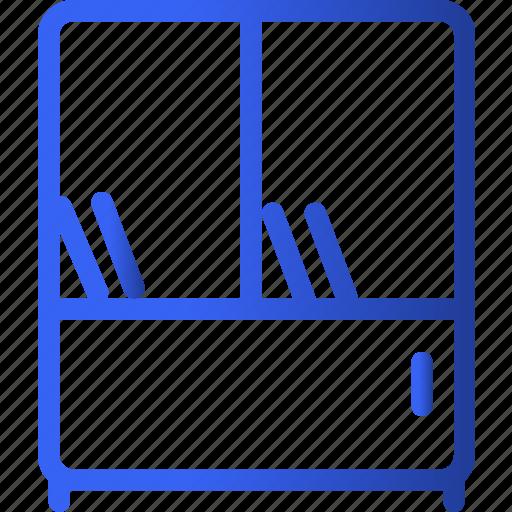 appliances, bookshelf, furniture, home, household, interior, shelf icon