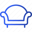 appliances, furniture, home, household, leaving, room, sofa icon