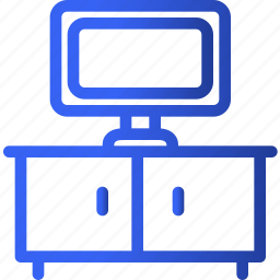 appliances, furniture, home, household, interior, setup, television icon