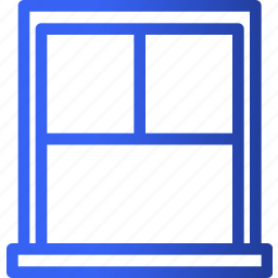 appliances, furniture, home, household, room, ventilation, window icon
