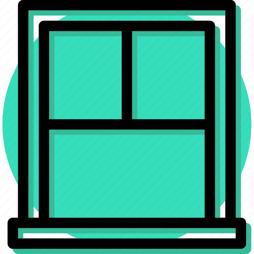 Appliance, furniture, home, house, household, interiror, window icon - Download on Iconfinder