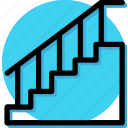 appliance, furniture, home, house, household, interiror, stairs icon