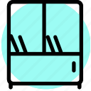appliance, furniture, home, house, household, interiror, bookshelf icon