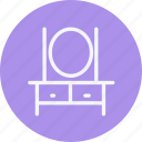 appliances, dressing, furniture, house, household, room, table icon