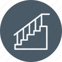 appliances, furniture, home, house, household, room, stairs icon