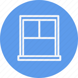 appliances, furniture, home, house, household, room, window icon