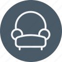 appliances, armchair, furniture, home, house, household, room icon