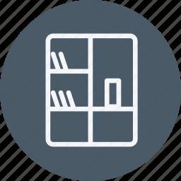 appliances, bookshelf, furniture, home, house, household, room, shelf icon
