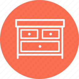 drawers, furniture, home, house, household, room, table icon