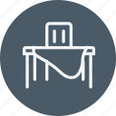 chair, dinner, furniture, home, house, household, table icon