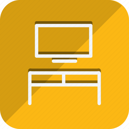 appliances, furniture, house, household, monitor, room, televistion icon