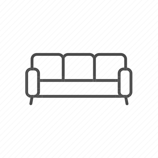 couch, furniture, home, household, households, interior, sofa icon