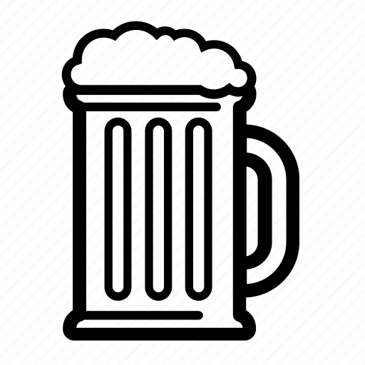 alcohol, bar, beer, beer mug, foamy, mug, mug of beer icon