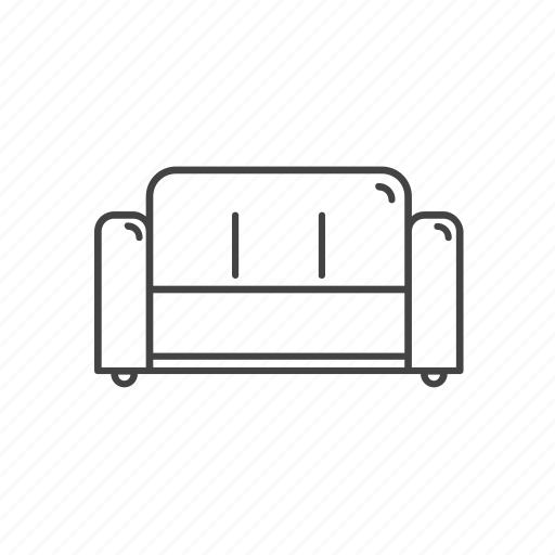 chair, couch, furniture, households, interior, sofa icon