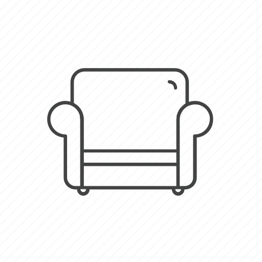 chair, couch, furniture, interior, seat, sofa icon