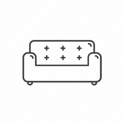 chair, couch, furniture, households, seat, sofa icon