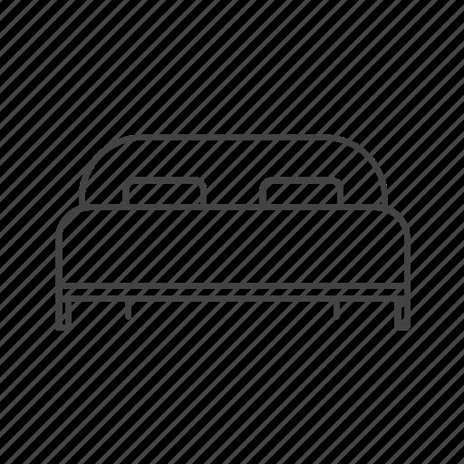 bed, bedroom, double, furniture, hotel, sleep icon