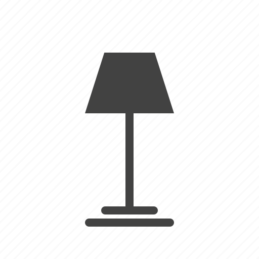 desk, electricity, lamp, light, night, shade, table icon