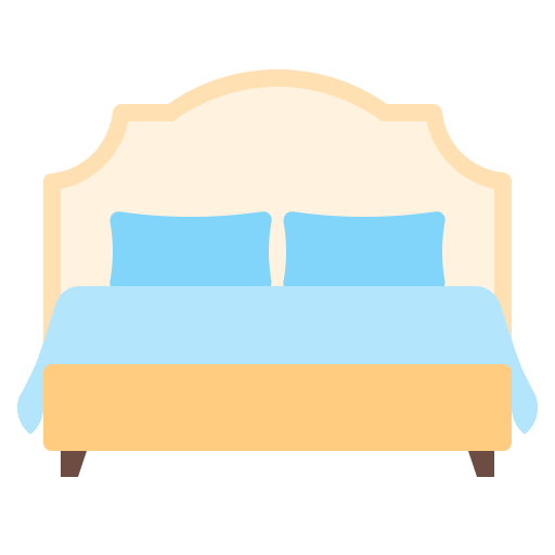 bed, double, furniture, house, interior icon