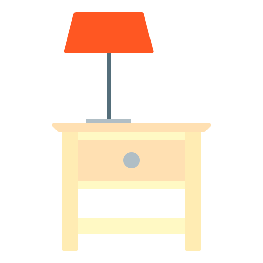 bedside, furniture, house, interior, table icon