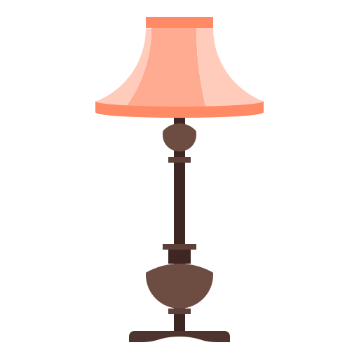 floor, home, interior, lamp, light icon