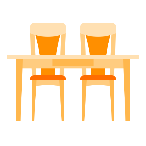 chair, furniture, home, kitchen, table icon