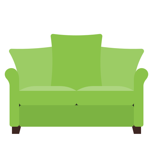 furniture, green, home, interior, sofa icon