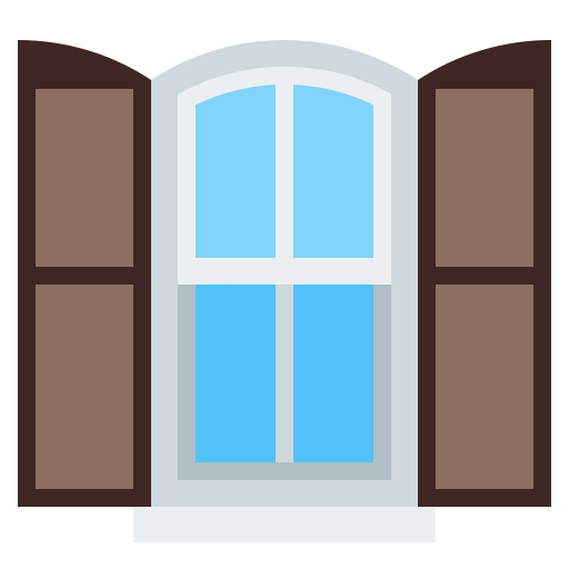 home, house, property, sun blind, window icon