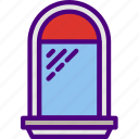 appliance, furniture, household, kitchen, window icon
