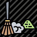 broom, dust, dustpan, equipment, sweep