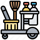cleaning, housemaid, equipment, housekeeping, service icon