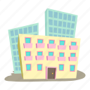 administrative building, business, cartoon, design, logo, urban icon