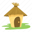 beach, cartoon, house, hut, island, travel, tropical icon