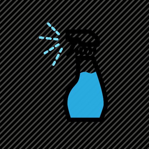 bottle, cleaning, gardening, ironing, spray, water icon