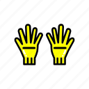 clean, cleaning, cloth, gardening, glove, hand icon