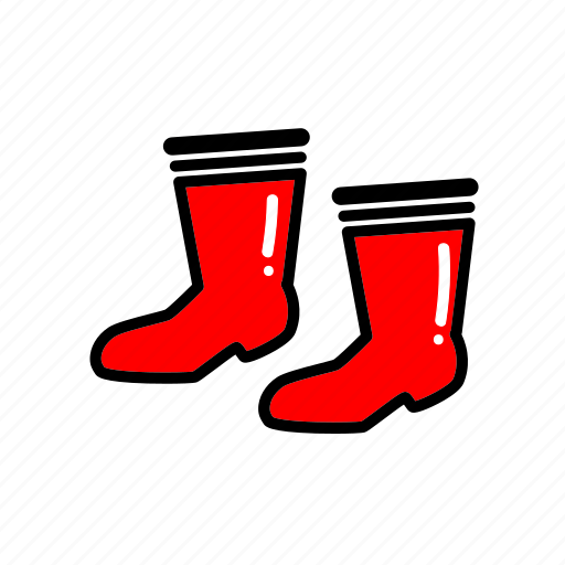 boot, cleaning, cloth, gardening, home, rain, shoes icon