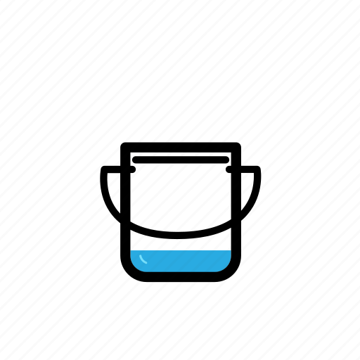 bucket, cleaning, drink, gardening, home, tool, water icon