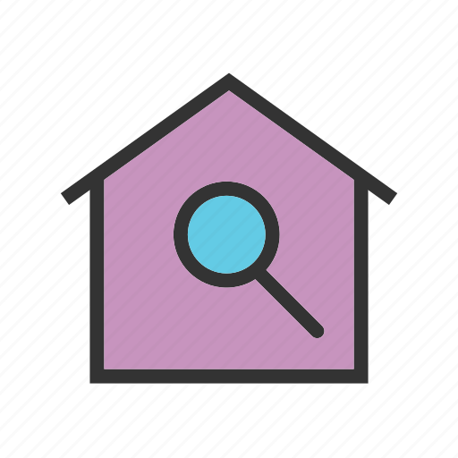 Estate, home, house, real, residential, sale, search icon - Download on Iconfinder