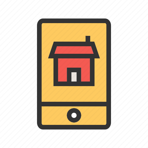 app, automation, house, internet, people, phone, tablet icon