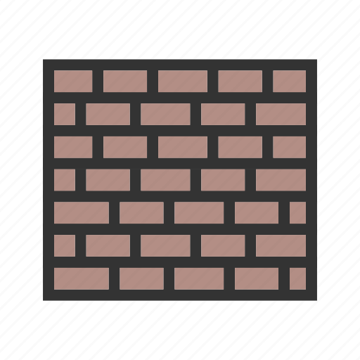 architecture, background, brick, construction, old, pattern, wall icon