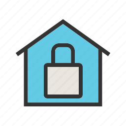 camera, cctv, home, house, lock, property, security icon