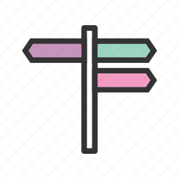 arrow, guide, road, sign, street, traffic icon
