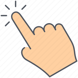 click, gesture, hand, interaction, pay per click, tap, touch icon