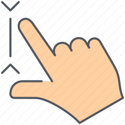dicrease, gesture, hand, interaction, multi touch, pinch, zoom out icon