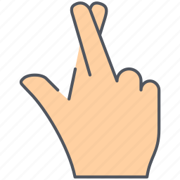 fingers, gesture, hand, language, luck, promise, sign icon