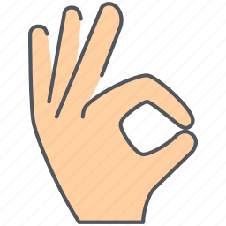 fingers, gesture, hand, language, ok, sign, well done icon